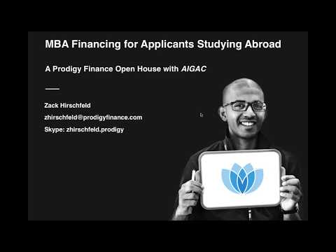 MBA Financing for applicants studying abroad