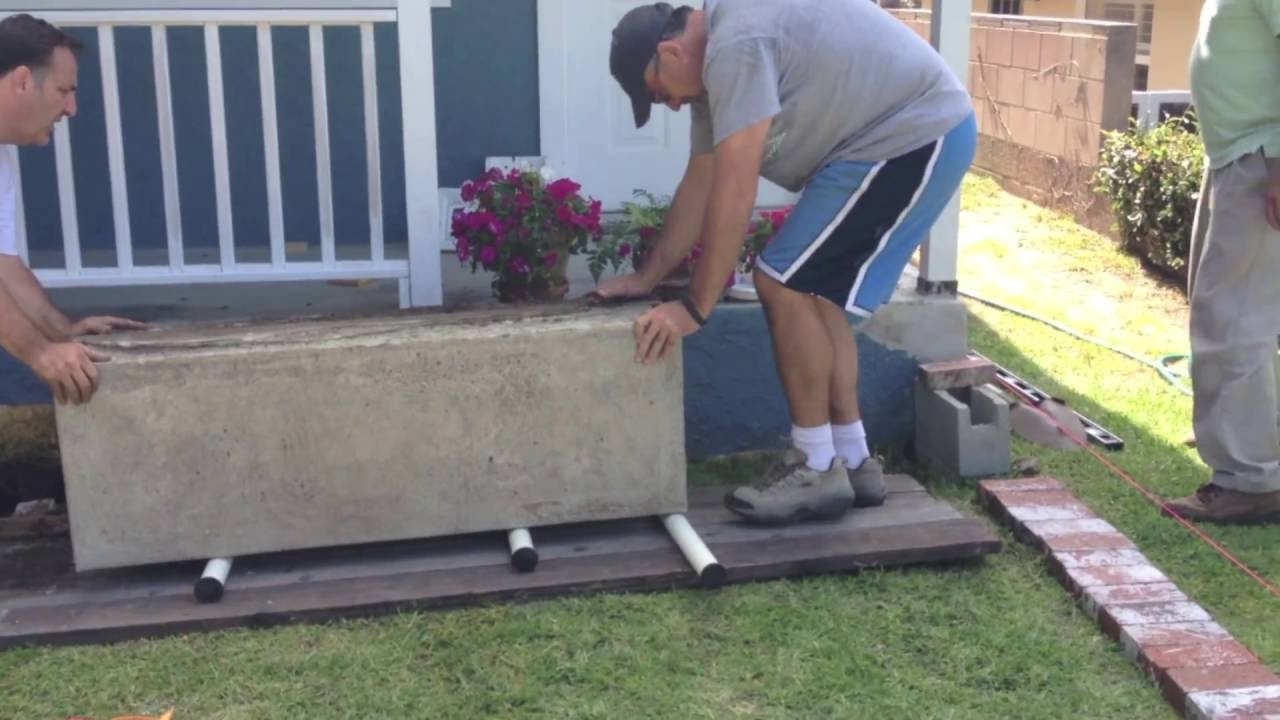 Moving A 1500 Lb Concrete Block Front Stoop Move Youtube