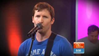 James Blunt on Sunrise in Australia singing Postcards.
