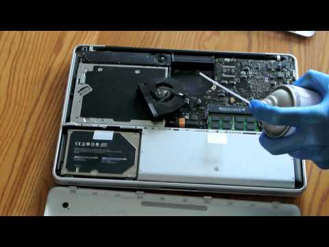 How to clean your Macbook (cleaning the Mac fan and battery area)