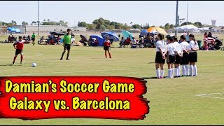 Video Damian's Soccer Game with New Team Galaxy vs. Barcelona (Sept. 30, 2017) download MP3, 3GP, MP4, WEBM, AVI, FLV Januari 2018