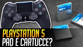 PlayStation 5: design del Dualshock 5 e cartucce per giochi PS5