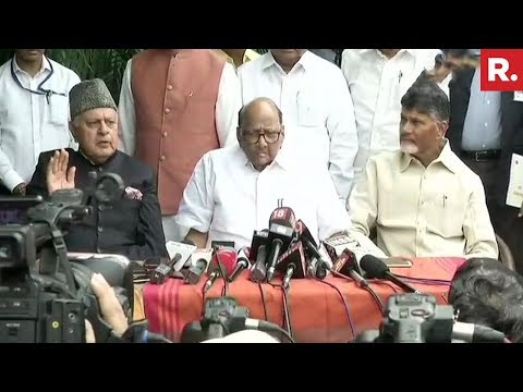 Sharad Pawar, Farooq Abdullah, And Chandrababu Naidu Address A Joint News Briefing