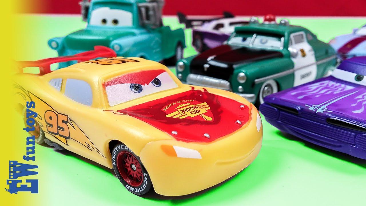 Disney Cars Toys Youtube: Disney Pixar Cars Diecast Toys Part 6 Mattel With McQueen