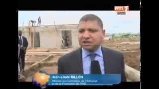 Visite du ministre, Jean Louis Billon  sur le nouveau site des artisans ferrailleurs