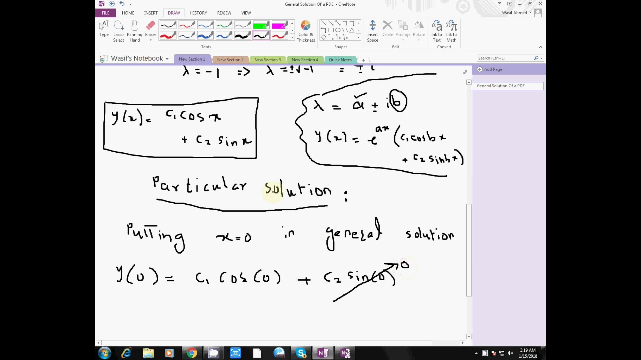 General Solution of a Partial Differential Equation