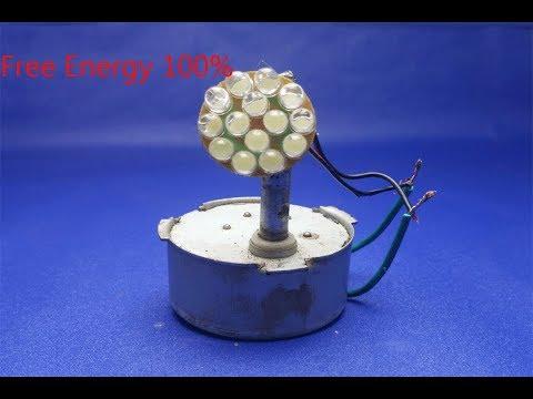 Free Energy Light Bulb using Magnet Generator Device 100%