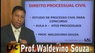 Direito Processual Civil - Atos Processuais - Prof. Waldevino Souza - parte 1/7