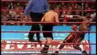 zab Judah getting knocked out in slowmo..