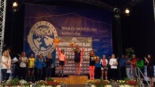 Marathon du Mont Blanc 2016  Finish top 10.  Awards ceremony