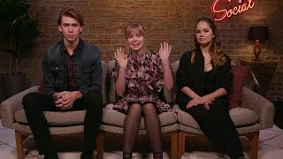 The cast of Every Day Debby Ryan, Angourie Rice, Owen Teague was LIVE and taking fan questions