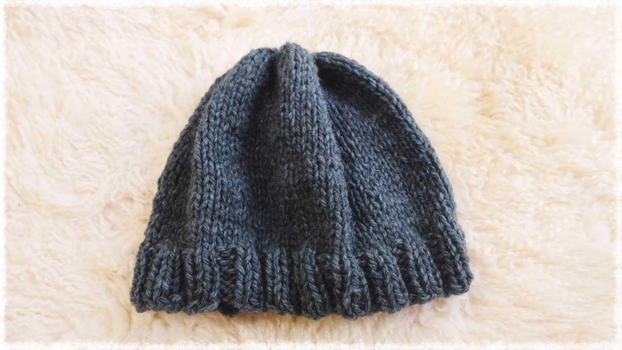 メンズ・ニット帽の編み方/作り方 diy mens knit beanie hat tutorial , YouTube