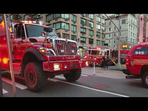 FDNY Rescue Operations TAC 1 On Scene Of A 2nd Alarm Fire In Manhattan, NY