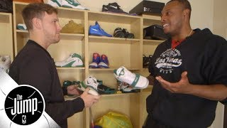 Nick DePaula stops by Paul Pierce's house to check out his game-worn sneakers   The Jump