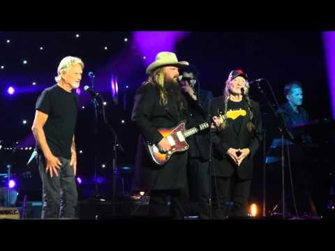 Willie Nelson, Kris Kristofferson & Chris Stapleton at John Lennon's 75th Birthday Concert 12-5-15