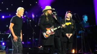 Willie Nelson, Kris Kristofferson & Chris Stapleton at John Lennon's 75th Birthday Concert 12-5-15