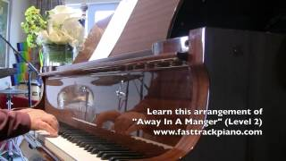 "Piano lesson for beginners ""Away In A Manger"""