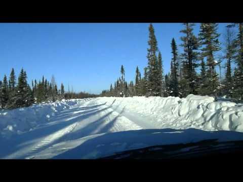 Winter Road, Fort Hope, Ontario, February 2 + 7, 2011