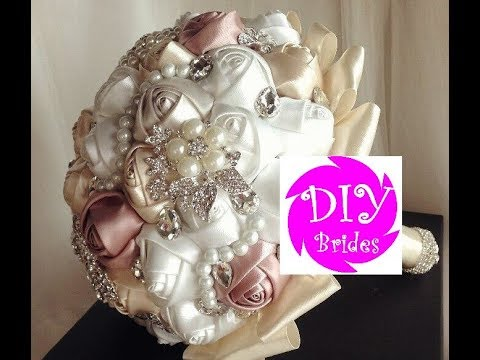 How to make Brooch Bouquet l DIY Bouquet Kit Pearlie l No Wires Easy Tutorial