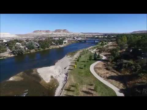 Phantom 3 Drone footage of Expedition Island Green River WY and Old Town Rock Springs Wy
