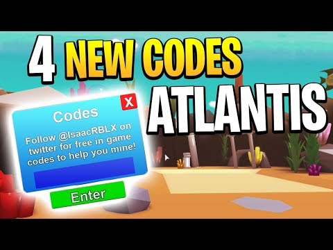 4 NEW ROBLOX MINING SIMULATOR CODES FOR ATLANTIS UPDATE