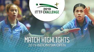 Sawettabut S./Paranang O. vs Komwong N./Sawettabut J. | 2019 ITTF Indonesia Open Highlights (1/2)