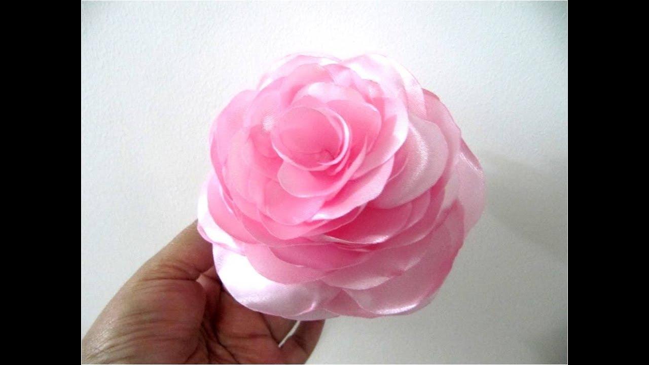 Como hacer flores de tela paso a paso pictures to pin on for Como hacer una alberca paso a paso