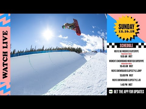 Day 4: Dew Tour Women's Snowboard Modified Superpipe Presented by Toyota + Men's Slope Finals