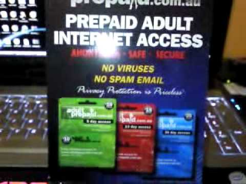 Adult pre paid card
