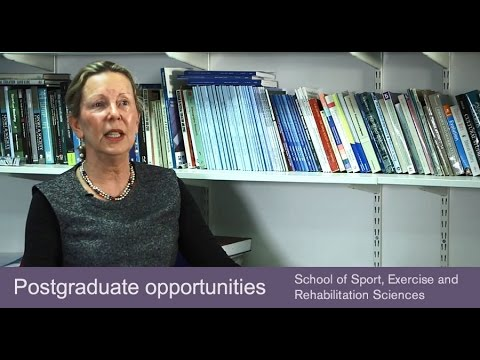 Postgraduate programmes in the School of Sport, Exercise and Rehabilitation Sciences
