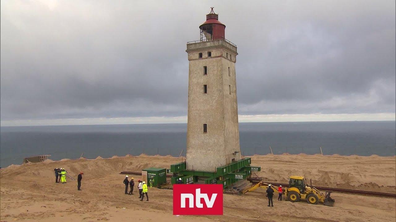 Dänemark Leuchtturm Zieht Um