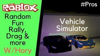 Roblox: simulatore di veicolo casuale divertimento rally, drag, personalizzazione e più W / Hory