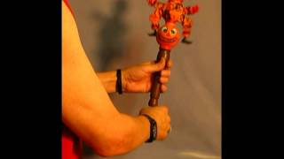 Vintage Styled Halloween Hand Mechanical  Pumpkin Head Toy