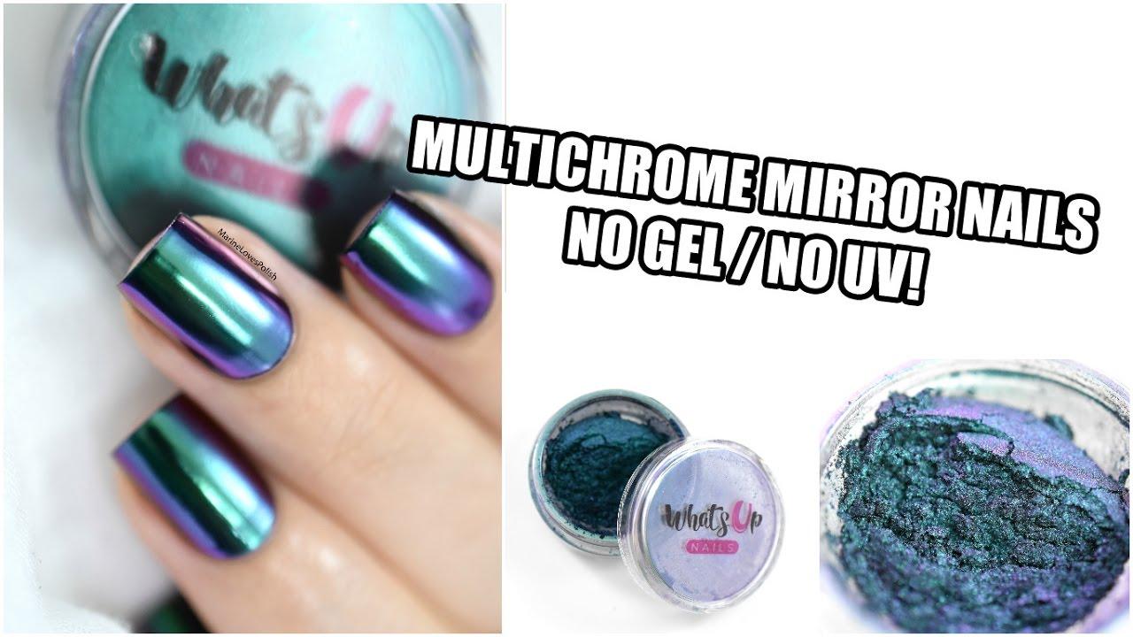 How To: Multichrome Mirror Nail Art ft. WUN Alchemy Powder (NO GEL ...