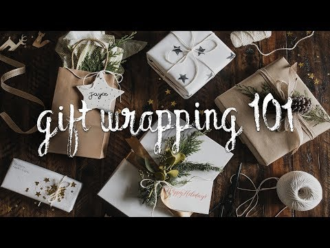 DIY GIFT WRAPPING IDEAS + HACKS - Minimal + Affordable Present Wrapping (2018) // Lone Fox