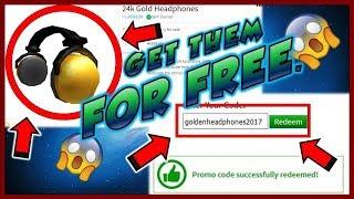 GET THE GOLDEN HEADPHONES FOR FREE FROM ROBLOX/ WALMART