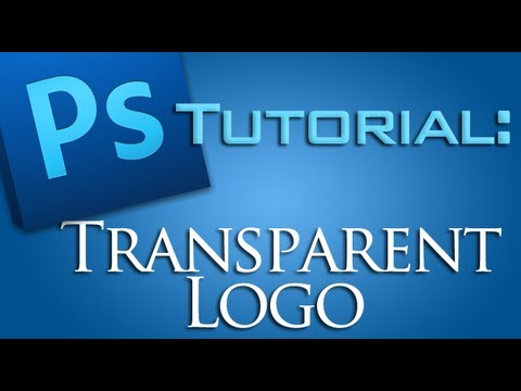 How to make a Logo TRANSPARENT with Photoshop CS5! [Watermark ...