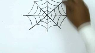 How to Draw a Halloween Spider