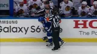 Gotta See It: Kucherov goes head and shoulders into goal post