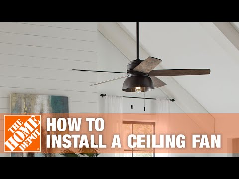 How To Replace or Install a Ceiling Fan | The Home Depot