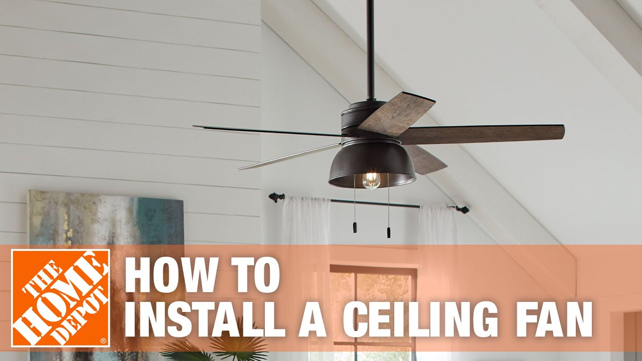 How To Replace Or Install A Ceiling Fan The Home Depot You