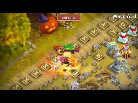 Castle Clash New HBM AI 5/5 Waves - Heroes Info Plus Base Info By Kosouko_Greece