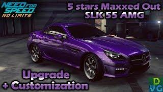 NFS No Limits | Mercedes SLK 55 AMG - 5 stars MAXXED OUT | Customization + Upgrade