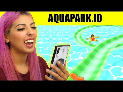 This VIRAL App Game Is So SATISFYING (Aquapark.io)