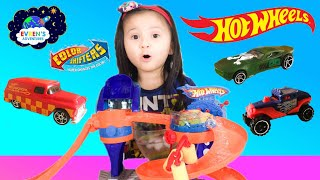 COLOR CHANGERS CARS Hot Wheels Color Shifters Bubble Matic Car Wash Kids Video ToysReview with Evren