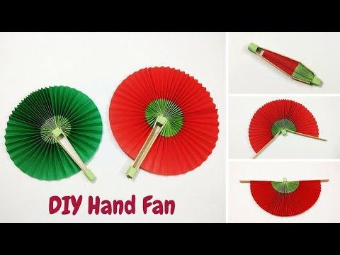 DIY-Handmade Paper Fan | Folding Hand Fan | How to Make a Paper Fan | Craftastic