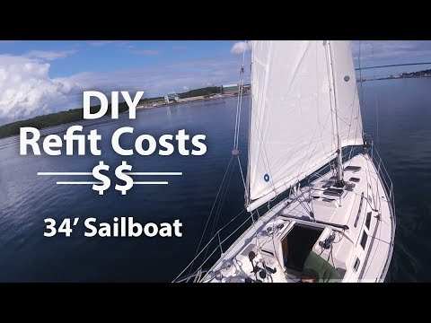 How Much It Cost To Buy And Refit Our Sailboat ⛵