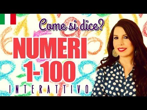 Italian Numbers 1-100 I N T E R A C T I V E