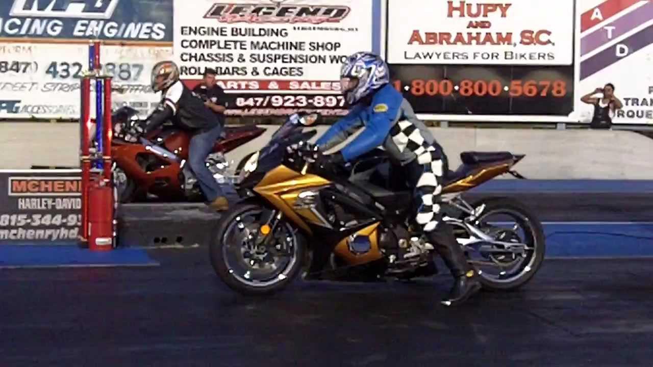 Rico Drag Strip >> Motorcycle Drag Racing at Great Lakes Dragaway in Wisconsin - YouTube