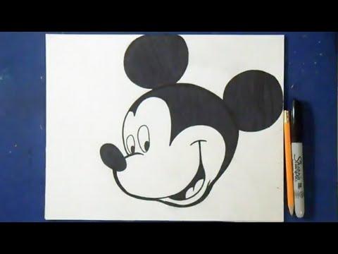 как рисовать Микки Маус